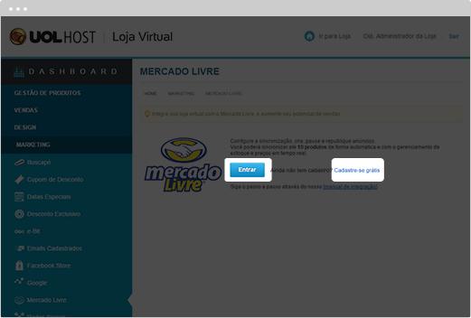 e8d464f1d Loja Virtual Integrada com Mercado Livre - UOL HOST